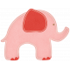 Oh Baby, Baby- Pink Elephant Sticker