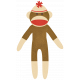 Oh Baby, Baby- Red & Brown Sock Monkey Sticker