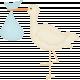 Oh Baby, Baby- Stork- Boy Bundle Sticker