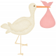 Oh Baby, Baby- Stork- Girl Bundle Sticker