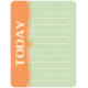 Oh Baby, Baby- Orange & Green Today Journal Card