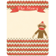 Oh Baby, Baby- Sock Monkey Journal Card