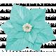 Christmas In July- Blue Flower