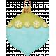 Christmas In July- Blue Green Teardrop Ornament
