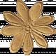 School Fun- Brown Big Flower