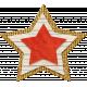 School Fun- Tan & Red Burlap Star