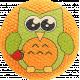 School Fun- Fabric Button- Owl 06