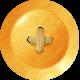 School Fun- Orange Button