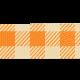 School Fun- Orange Gingham Ribbon