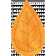 School Fun- Orange Paper Leaf