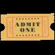 At The Fair- September 2014 Blog Train- Wordart- Admit One