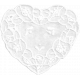 Summer Daydreams- White Heart Doily