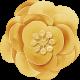Summer Daydreams - Yellow Paper Flower