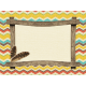 Outdoor Adventures- Journal Card- Wood Frame Indian Pattern