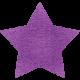 Spookalicious- Purple Star Sticker