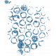 Blue Glitter Splat