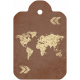 World Map Tag