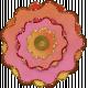 Paper Flower 11- Pink & Orange