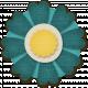 Flower Set 12- Teal