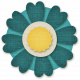 Flower Set 12- Teal