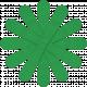 Dark Green Paper Flower