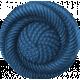 Blue Vintage Button