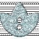 Paris Glitter Button- Blue