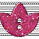 Paris Glitter Button- Hot Pink