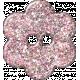 Paris Glitter Button- Pink