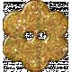 Paris Glitter Button- Yellow