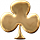 Gold Clover Shape
