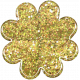 Sofia Glitter Flower- Yellow