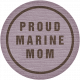 Proud Marine Mom Tag
