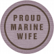 Proud Marine Wife Tag