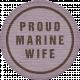 Proud Marine Wife Tag