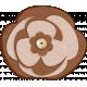 Sofia Felt Flower- Brown