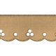 Scalloped Lace Ribbon- Tan