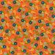 Floral Paper- Orange & Blue