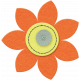 Taiwan Felt Flower 01c- Orange