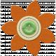 Taiwan Felt Flower 01j- Orange & Green