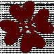 Change Felt Flower- Red Hearts