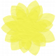 Yellow Tissue Paper Flower