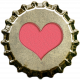 Bottle Cap- Pink Heart