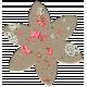 Cardboard Flower- Splattered