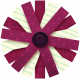 Vietnam Paper Flower 21- Burgundy & Green