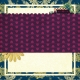 Vietnam Paper Cluster Background- Scalloped & Purple