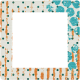 Dino Square Frame- Polka Dots