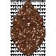 Cambodia Brown Glitter Leaf