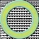 Cambodia Chipboard Circle- Doughnut Blue & Yellow