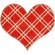Cambodia Plaid Heart